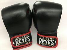Cleto Reyes Lace Up Hook and Loop Hybrid Boxing Gloves - medium - BK - no logos