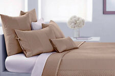 Dkny Harmony Sand Tan Khaki Full-Queen Quilted Decorative Euro Pillow Sham Nwt