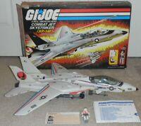 1983 GI Joe Skystriker XP14F Combat Jet Box Ace Blueprints Parachute *Complete