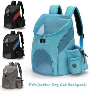 Breathable Pet Carrier Dog Cat Backpack Adjustable Ventilated Travel Front Bag