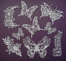 Butterflies Paper Die Cuts Set Scrapbooking Embellishments - Not a Die
