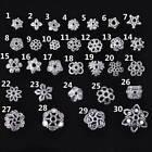 50pcs 6~16mm Flower/Leaves Tibetan Silver Metal Alloy  Loose Spacer Beads Caps