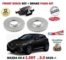 Para Mazda CX3 1.5 Dt 2.0 2015-- > Discos Freno Delantero Set + Kit de Pastillas