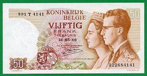 Belgium  50 Francs ,1966 , UNC