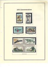 U.S. 1971 Commemorative Year Set, 23 items (3 scans) Complete, mNH Fine