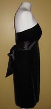 MARKS & SPENCER AUTOGRAPH Black velvet fitted strapless dress size 12