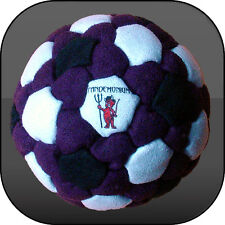 BLACK LOTUS FOOTBAG, 92 panels, Pellets & Iron filled hacky sack, freestyle