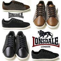 Lonsdale Redwood Tweed Smart Casual Trainers Mens Summer Retro Style Shoes