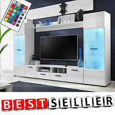 Modern TV Display Cabinet Cupboard Entertainment Stand Unit Furniture LED Lights