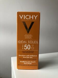 Vichy - Idéal Solei - Emulsion Toucher Sec SPF 50 - 50ml - Neuf