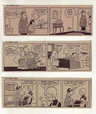 Hi and Lois by Dik Browne - 8 daily comic strips from February to April, 1968