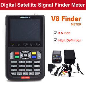 V8 HD Finder 3.5 inch Satellite Signal Finder DVB-S/S2 Satellite Meter Receptor.