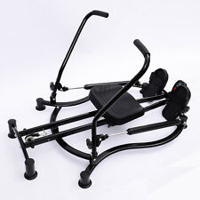 HOMCOM Foldable Rowing Machine Rower Glider Workout Home Gym Cardio Exercise