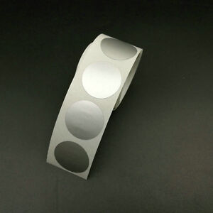 """1000 Scratch Off Sticker 25*25mm 1"""" Round Glossy Silver Color New Arrival"""