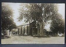 1915 postcard..BAPTIST CHURCH & homes in MANCHESTER CENTER, VT..still standing??