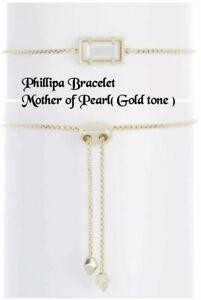 Kendra Scott Phillipa Bracelet, Mother of Pearl, Goldtone, NWT $65