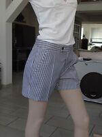 Strenesse Short Shorts Hose neu  Gr. 34 blau weiß gestreift