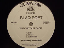 "BLAQ POET - WATCH YOUR BACK / BLOODY MESS (12"")  2006!!!  DJ PREMIER + ALCHEMIST"