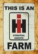 International Harvester Farm tin metal sign furniture home decor