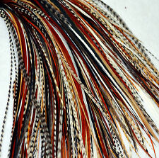 "10 long véritable plume extensions de cheveux naturel mix 7-11"" - metz/whiting vendeur britannique"