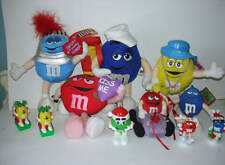 M&M M&M's Candy Advertising Holiday Plush Topper Huge Lot of 10 Figure