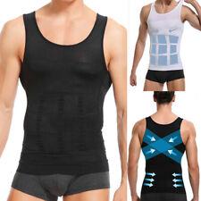Men Slim Fit Shirt Body Shaper Vest Belly Compression Tank Top Moobs Lift Corset