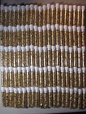 5 GOLD LEAF FLAKES 3ML VIALS BEAUTIFUL YELLOW LUSTER CAP SEALED NO LIQUID