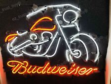 "New Budweiser Motorcycle Beer Bar Light Lamp Neon Sign 24""x20"""