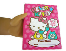 "Doll Sized Hello Kitty Phone Book works for 18"" American Girl Dolls Accessories"