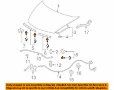 91518SM4003 Acura Honda OEM Front Hood Seal Molding Retaining Clip Pack of 5