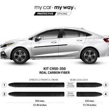 (Fits) Chevrolet Cruze 2016-2019 Real Carbon Fiber Body Side Molding Cover Trim