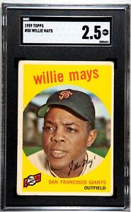 1959 Topps #50 Willie Mays SGC Grade 2.5 San Francisco Giants HOF