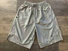 Super Rare Jordan Nike Basketball Dazzle Shorts Sexy Silver Gray XL