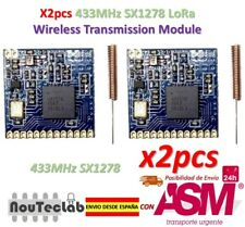 2pcs SX1278 433MHz LoRa Wireless Module Long Distance Transmission with Antenna