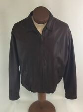POLO RALPH LAUREN BROWN LEATHER JACKET L