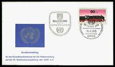BERLIN COVER 1975 HAMBURG AUSSTELLUNG 30 JAHRE UNO UN EISENBAHN LOK ca78