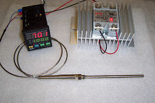 DIGITAL PID TEMP CONTROLLER  F & C 60AMP SSR & LARGE HT-SINK AND PT-100 PROBE