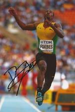 ATHLETICS: DAMAR FORBES SIGNED 6x4 ACTION PHOTO+COA *JAMAICA*