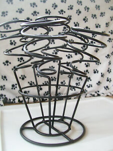 Wrought Iron Cage Wine Holder Stand - 6 Bottles