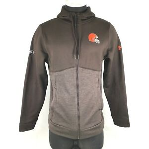 Under Armour Cleveland Browns Full Zip Hoodie Mens Size S 1300560-923