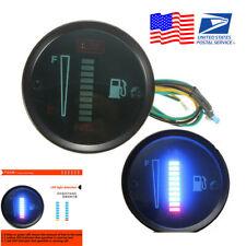 """2"""" 52mm 12V Car Boat Motorcycle Fuel Level Meter LED Display Digital Gauge -USA"""