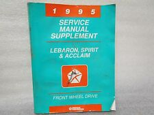 1995 SERVICE MANUAL SUPPLEMENT LEBARON,SPIRIT,AND ACCLAIM FRONT WHEEL DRIVE