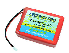 Lectron Pro LiPo 7.4V 2-cell 4000mAh Transmitter Battery Spektrum DX7S DX8 & DX9