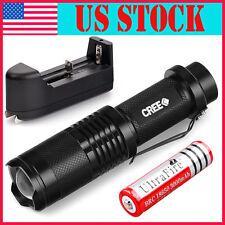 CREE XML T6 Zoomable LED Flashlight 18650 Rechargable 6000 Lumen Torch Light USA