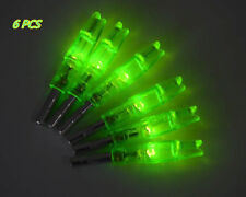 6x Archery Lighted Nock Hunting Arrow Nocks with LED Green Tail Fit 6.2mm Shaft