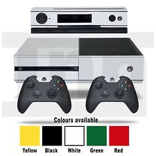 Xbox One Vinyl Skin Sticker Decal Black White Carbon Yellow Red Green Console