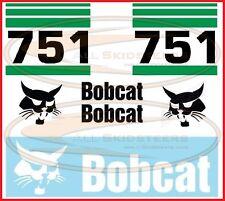 Bobcat 751 Decal Sticker Kit Skid Steer Loader Number Stripes Side