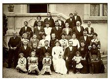 Photo ancienne mariage vendéen au château costumes et coiffes
