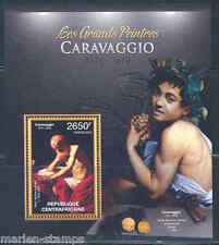 CENTRAL AFRICA 2012  THE GREATEST PAINTERS CARAVAGGIO   SOUVENIR SHEET NH