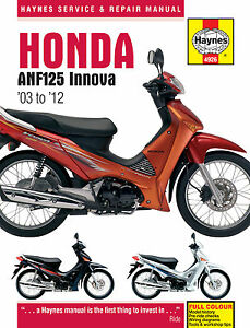 HAYNES WORKSHOP SERVICE REPAIR MANUAL HONDA ANF125 INNOVA 2003-2012